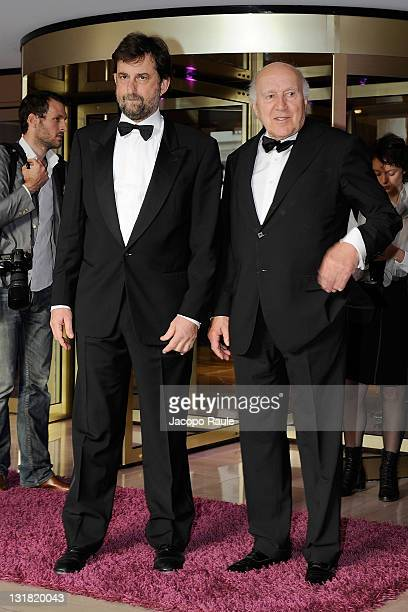 Nanni Moretti and Michel Piccoli are seen during The 64th Annual Cannes Film Festival on May 13 2011 in Cannes France