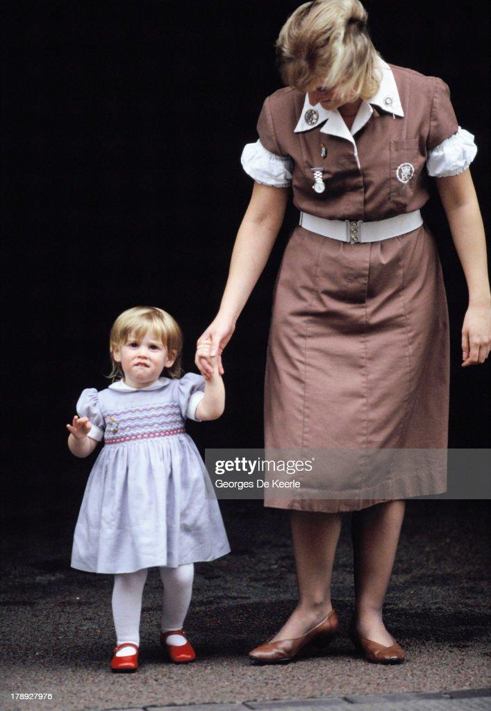 Princess Beatrice At Eugenie Birth : News Photo