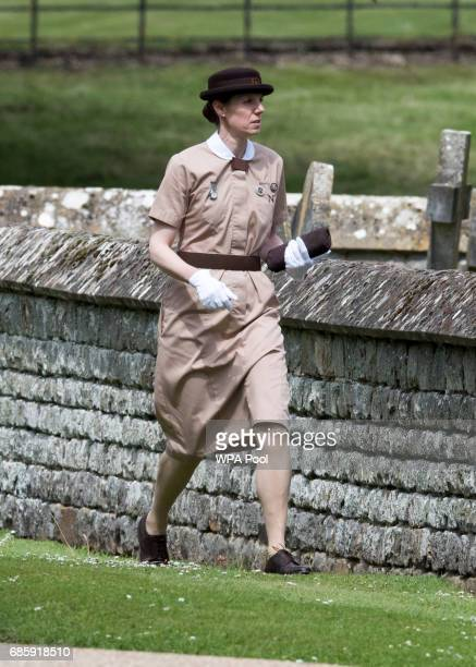 Nanny to Prince George and Princess Charlotte of Cambridge is seen ahead of the wedding ceremony of Pippa Middleton to James Matthews at St Mark's...
