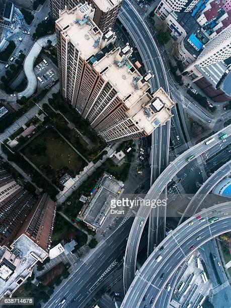 Nanpu Bridge area in Shanghai