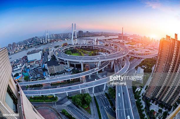 Nanpu Bridge at Sunset, Shanghai