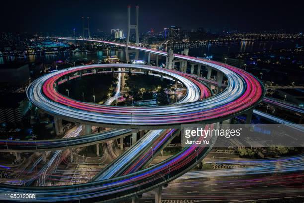nanpu bridge - interchange stock pictures, royalty-free photos & images