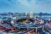 Nanpu Bridge Traffic in Shanghai,China