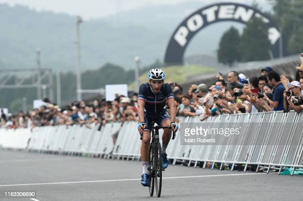 Nans Peters finishes in third place during the Ready Steady Tokyo - Cycling , Tokyo 2020 Olympic Games test event at Fuji Speedway on July 21, 2019...