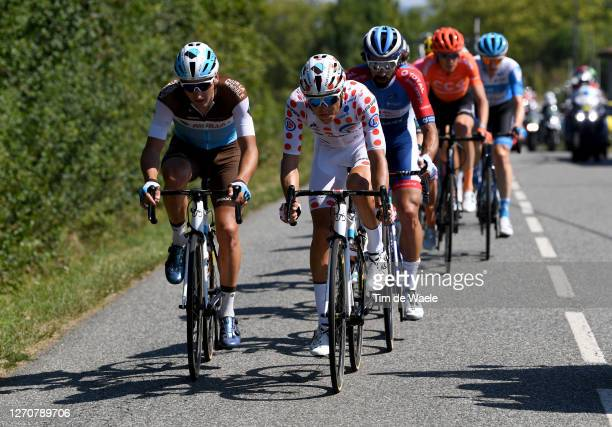 Nans Peters of France and Team Ag2R La Mondiale / Benoit Cosnefroy of France and Team Ag2R La Mondiale Polka Dot Mountain Jersey / Breakaway / during...