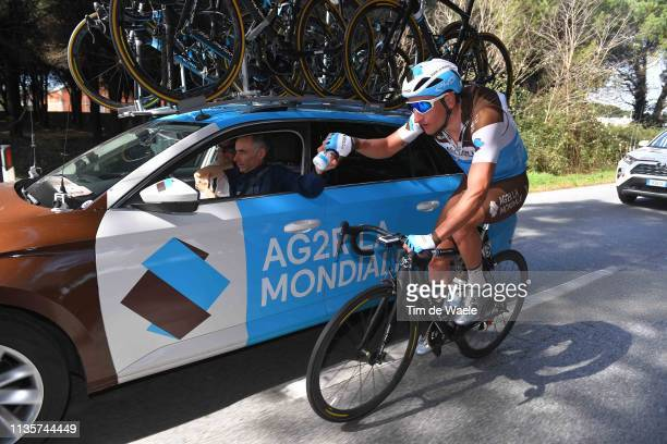 Nans Peters of France and Team AG2R La Mondiale / Car / Feed Zone / during the 54th TirrenoAdriatico 2019 Stage 2 a 195km stage from Camaiore to...