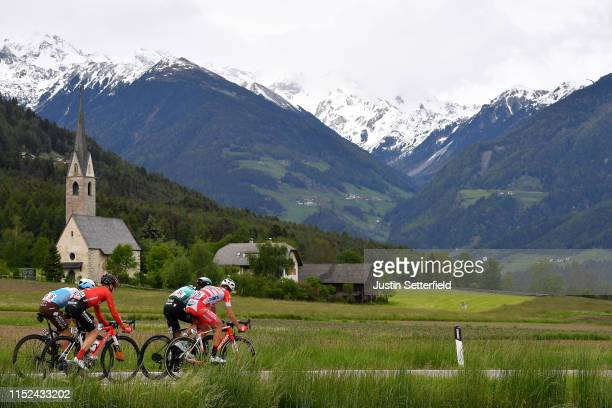 Nans Peters of France and Team AG2R La Mondiale / Chris Hamilton of Australia and Team Sunweb / Davide Formolo of Italy and Team Bora - Hansgrohe /...
