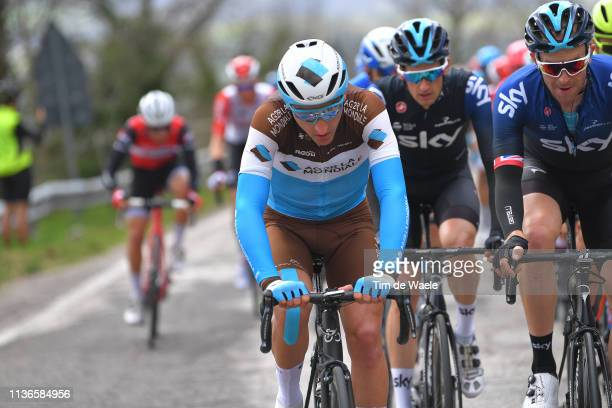 Nans Peters of France and Team AG2R La Mondiale / Ian Stannard of the United Kingdom and Team Sky / during the 54th TirrenoAdriatico 2019 Stage 6 a...