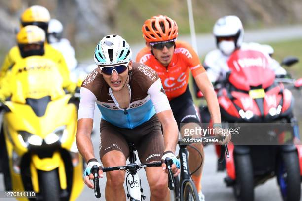 Nans Peters of France and Team Ag2R La Mondiale / Ilnur Zakarin of Russia and CCC Team / during the 107th Tour de France 2020, Stage 8 a 141km stage...
