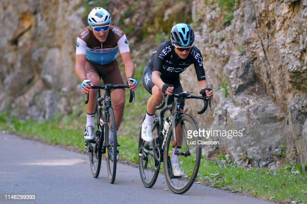 Nans Peters of France and Team AG2R La Mondiale / Kenny Elissonde of France and Team INEOS / during the 73rd Tour de Romandie 2019 Stage 1 a 1684km...