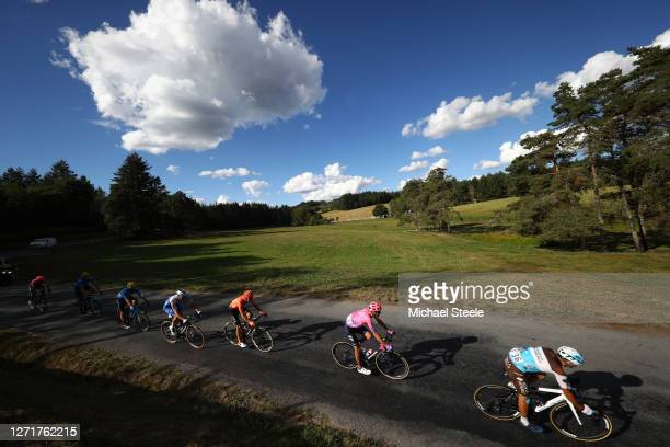Nans Peters of France and Team Ag2R La Mondiale / Tejay Van Garderen of The United States and Team EF Pro Cycling / Tim Declercq of Belgium and Team...