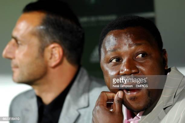 FC Nantes' co trainer Michele De Zagarian and coach Japhet N'Doram