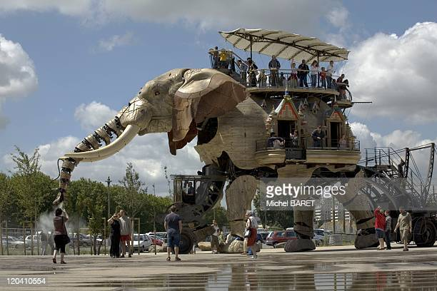 Nantes elephant in LoireAtlantique Nantes France in August 2007 An elephant from 12 meters tall eight meters wide 45 tons of tulip tree and metal...