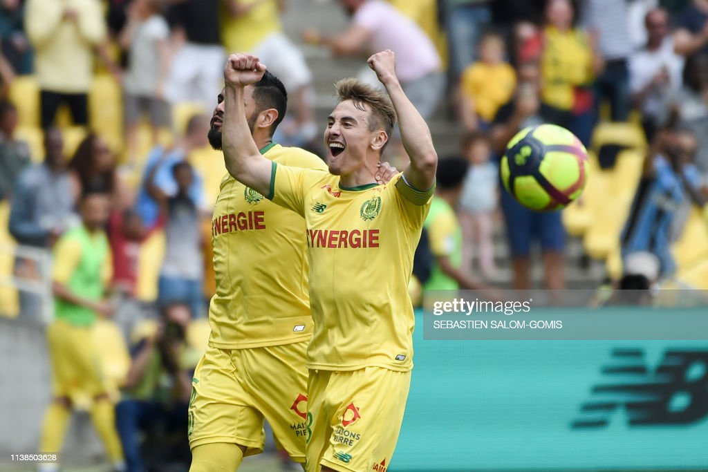 FBL-FRA-LIGUE1-NANTES-AMIENS : News Photo