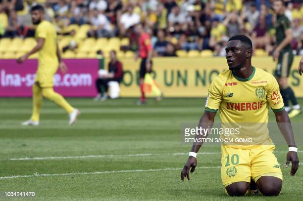 Nantes' Ghanean forward Majeed Waris is seen during the French L1 football match between Nantes and Reims at La Beaujoire stadium in Nantes western...