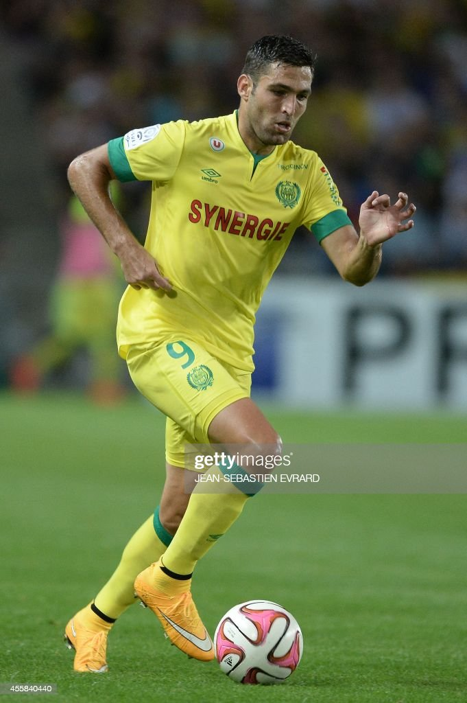 Nantes' Israeli forward Itay Shechter runs with the ball during the French L1 football match between Nantes (FCN) and Nice (OGC) on September 20, 2014 at the Beaujoire stadium in Nantes, western France.