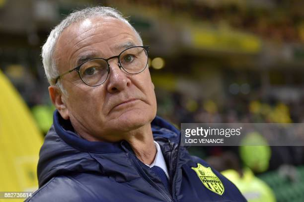 Nantes' Italian head coach Claudio Ranieri looks on ahead of the French L1 football match Nantes vs Monaco at the La Beaujoire stadium in Nantes...