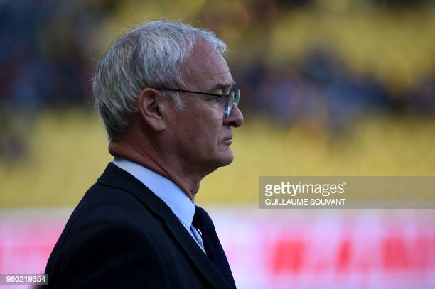 Nantes' Italian head coach Claudio Ranieri looks on at the start of the French L1 football match between RC Strasbourg Alsace and Nantes FC at La...