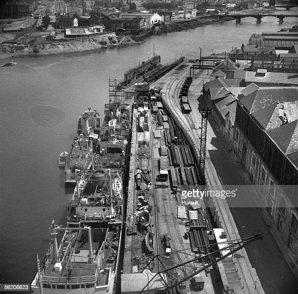 Nantes The shipyards about 1960