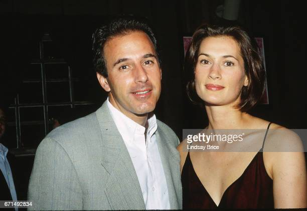 Nantucket Film Festival Matt Lauer and thenfiancée Annette Roque at Bob and Suzanne Wright's party at the Nantucket Film Festival Nantucket MA June...