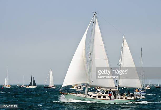nantucket sailboat race - hyannis port stock pictures, royalty-free photos & images