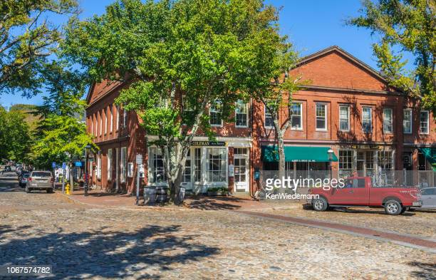 nantucket village center - nantucket stock pictures, royalty-free photos & images