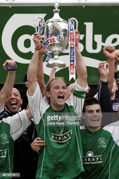 Nantwich Towns Richard Smith Lifts The Fa Vase Trophy News Photo