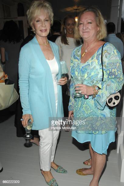 Nany Corzine and Pandora Biddle attend the Kickoff Party for the 2009 Alzheimer's Association Rita Hayworth Gala at a Private Residence on July 31...