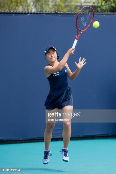 Nao Hibino in action during the Miami Open on March 20 2019 at Hard Rock Stadium in Miami Gardens FL
