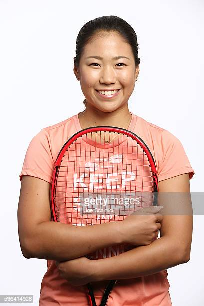 Nao Hibino of Japan poses for a WTA Portrait at Arthur Ashe Stadium on August 26 2016 in New York City