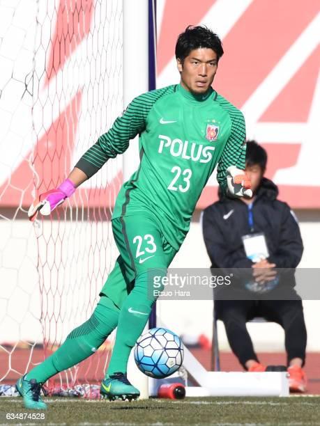 Nao Iwadate of Urawa Red Diamonds in action during the preseason friendly between Urawa Red Diamonds and FC Seoul at Urawa Komaba Stadium on February...