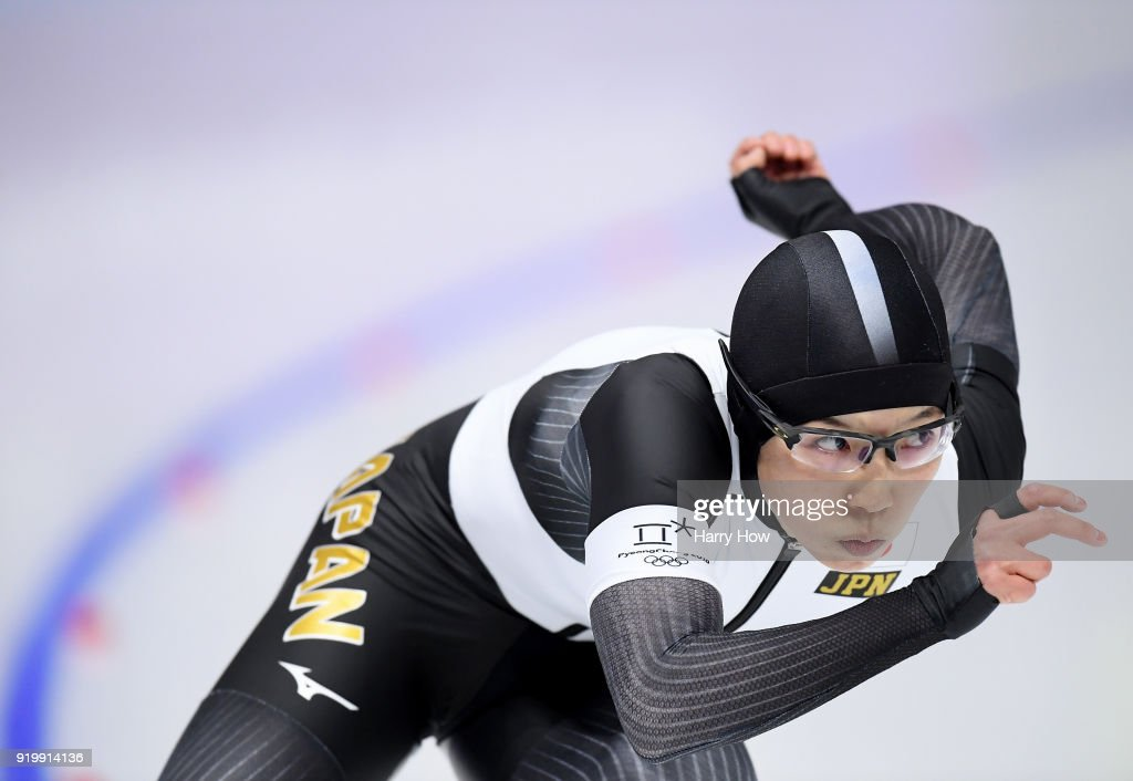 Nao Kodaira of Japan competes during the Ladies' 500m Individual Speed Skating Final on day nine of the PyeongChang 2018 Winter Olympic Games at Gangneung Oval on February 18, 2018 in Gangneung, South Korea.