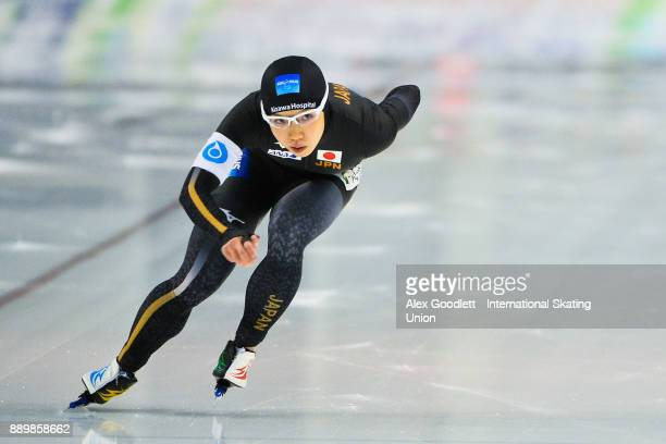 Nao Kodaira of Japan competes in the ladies 1000 meter finals during day 3 of the ISU World Cup Speed Skating event on December 10 2017 in Salt Lake...