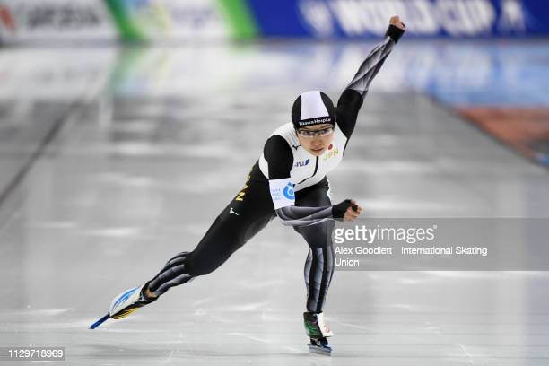 Nao Kodaira of Japan competes in the women's 2nd 500m duing the ISU World Cup Final at the Utah Olympic Oval on March 10 2019 in Salt Lake City Utah...