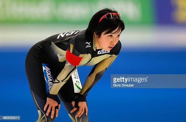 Nao Kodaira of Japan looks on after the women's 500m Division A race during day one of the Essent ISU World Cup Speed Skating on December 5 2014 in...