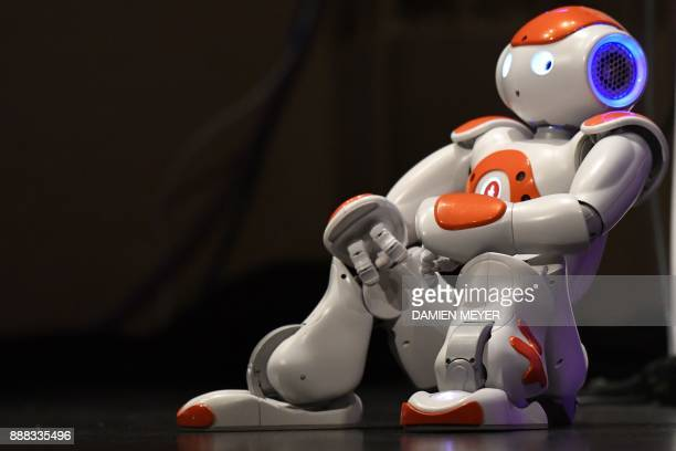 Nao robot is displayed during the digital tech show in Rennes on December 8 2017 This event dedicated to the development of digital trends offers to...