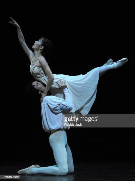 Nao Sakuma as Juliet and Yasuo Atsuji as Romeo in Birmingham Royal Ballet's production of Kenneth MacMillan's Romeo and Juliet at Sadler's Wells...