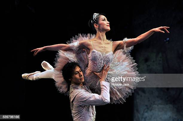 Nao Sakuma as The Sugar Plum Fairy and Cesar Morales as The Prince in Birmingham Royal Ballet's production of Peter Wright Lev Ivanov and Vincent...