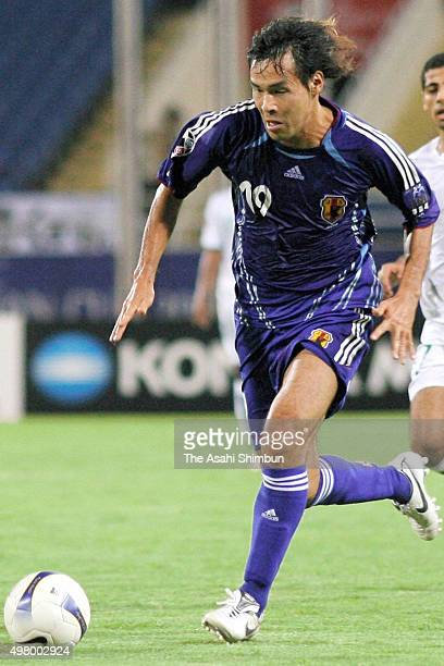 Naohiro Takahara of Japan in action during the AFC Asian Cup Semi Final match between Japan and Saudi Arabia at My Dinh National Stadium on July 25...