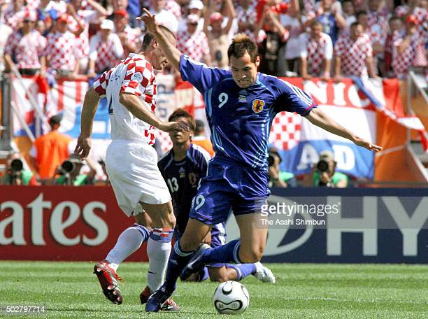 Naohiro Takahara of Japan in action during the FIFA World Cup Germany 2006 Group F match between Japan and Croatia at the Frankenstadion on June 18...