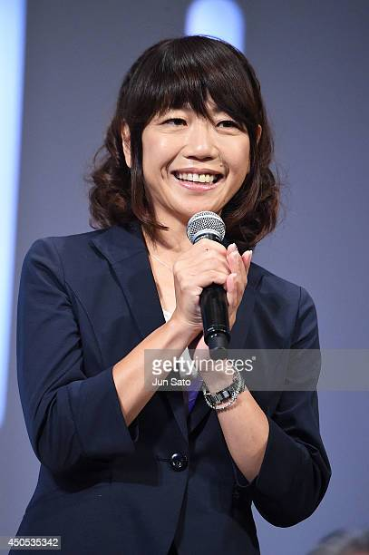 Naoko Takahashi attends a news conference to announce the partnership between Bridgestone Corporation and the International Olympic Committee on June...