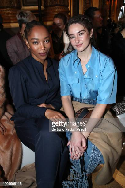 Naomi Ackie and Shailene Woodley attend the Stella McCartney show as part of the Paris Fashion Week Womenswear Fall/Winter 2020/2021 on March 02 2020...