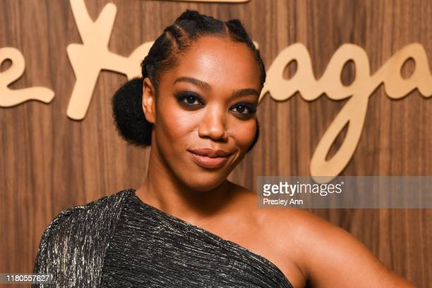 Naomi Ackie attends ELLE x Ferragamo Hollywood Rising Party at Sunset Tower on October 11 2019 in Los Angeles California