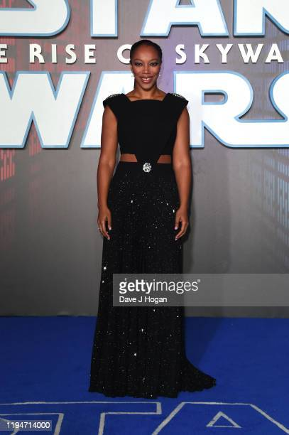"Naomi Ackie attends ""Star Wars: The Rise of Skywalker"" European Premiere at Cineworld Leicester Square on December 18, 2019 in London, England."