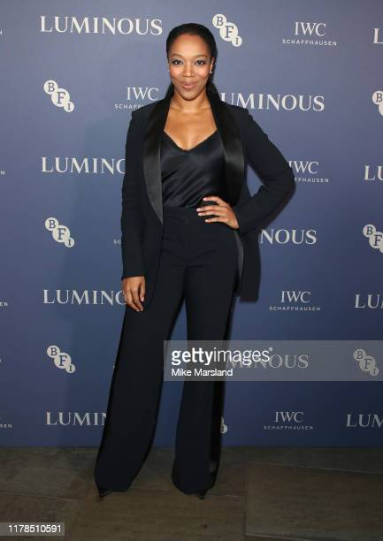 Naomi Ackie attends the BFI Luminous Fundraising Gala at The Roundhouse on October 01 2019 in London England