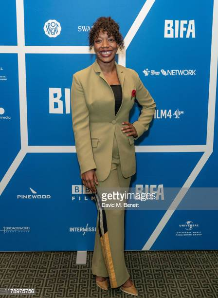 Naomi Ackie attends the BIFA nominations announcement at Regent Street Cinema on October 30 2019 in London England