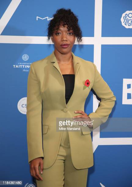 Naomi Ackie attends the BIFA Nominations Announcement photocall at Regent Street Cinema on October 30 2019 in London England