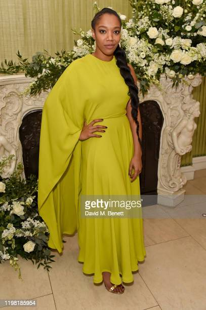 Naomi Ackie attends the British Vogue and Tiffany Co Fashion and Film Party at Annabel's on February 2 2020 in London England
