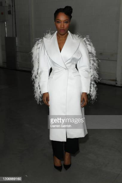 Naomi Ackie attends the Christopher Kane show during London Fashion Week February 2020 on February 17 2020 in London England