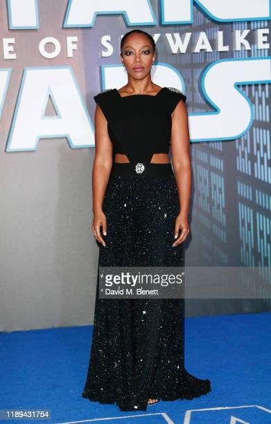 "Naomi Ackie attends the European Premiere of ""Star Wars: The Rise of Skywalker"" at Cineworld Leicester Square on December 18, 2019 in London, England."